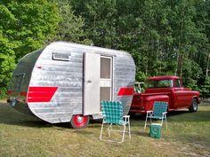 Vintage 1957 Tini-Home Canned Ham RV Camper | eBay