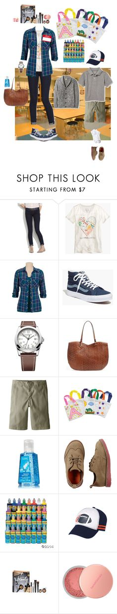 """""""4/26"""" by mana-g ❤ liked on Polyvore featuring Madewell, J.Crew, Victorinox Swiss Army, Cole Haan, Dickies, The Children's Place, ULTA, Bare Escentuals and Eos"""