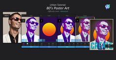 80's Poster Art Tutorial | Enlight Leak