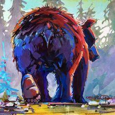 Bear Bum Artist Bio, Clear Bags, Art Reproductions, Order Prints, Art Gallery, Fine Art, Art Prints, Canvas, Artwork