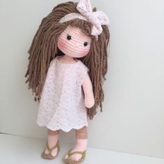 Photo-tutorial: Eyes for Crochet Doll Amigurumi Love Crochet, Beautiful Crochet, Crochet Baby, Knit Crochet, Amigurumi Doll, Amigurumi Patterns, Doll Patterns, Knitted Dolls, Crochet Dolls