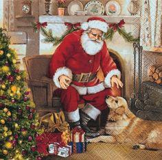 3574 Servilleta decorada Navidad