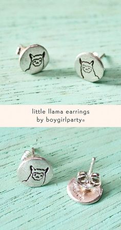 Llama Studs by Susie Ghahremani / boygirlparty® from: http://shop.boygirlparty.com/products/llama-earrings-sterling-silver