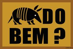 Tapete Capacho Tatu Do Bem ? - Com Bordas Rebaixadas