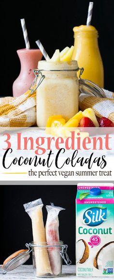 3 Ingredient Coconut Coladas (and other summer hacks) | www.veggiesdontbite.com | #vegan #glutenfree #norefinedsugar #ad #TastesLikeBetter via @veggiesdontbite