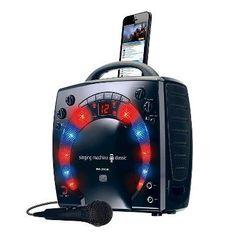 Singing Machine Cd+g Mini Lightshow Karaoke System - Black (SML283BK)