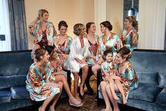 Bridesmaid Robes/ Wedding Party Gifts// Bridal Party Robes/ Bridesmaids Gifts/ Set of 8 Bridal Party Bridal Party Robes, Gifts For Wedding Party, Bridal Gifts, Our Wedding, Party Gifts, Wedding Stuff, Floral Bridesmaids, Bridesmaid Robes, Wedding Trends