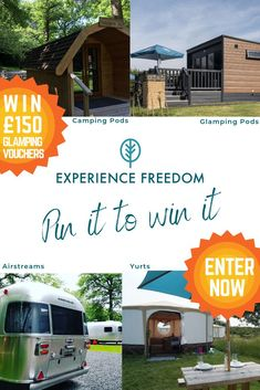 To celebrate the launch of Experience Freedom on Pinterest we are offering 150 Experience Freedom gift voucher for a glamping adventure in the UK. To enter: �Follow us on Pinterest @ExperienceFreedom �Create an Experience Freedom board �Repin your fav Glamping Uk, Glamping Holidays, Camping Pod, Gift Vouchers, Cool Places To Visit, About Uk, The Great Outdoors, The Good Place, Freedom