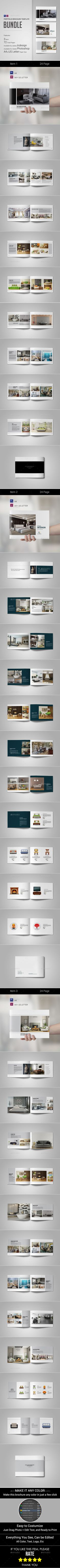 Interior Brochure Bundle — Photoshop PSD #customizable #minimal • Available here → https://graphicriver.net/item/interior-brochure-bundle/16166076?ref=pxcr
