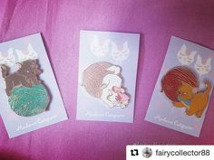 These are going fast!  #Repost @fairycollector88 (@get_repost)  ・・・  They are purrrfect!!😻😸😽 And have just arrived!✉ Thank you @madamecatspurrr for these cuties😄💕 #disney #pins #disneypins #fantasypins #pincollection #pincollector #pinmail #aristocats #disneycats #berlioz #toulouse #kitten #glitter #sparkle #marie #cats #supercute #disneygram #instadisney #disneylover #disneynerd #disneycollector