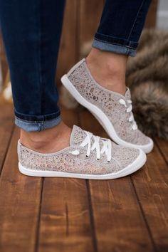 Cloud Bound Crochet Slip On Sneakers (Grey)