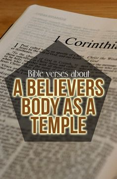 Bible verses about the Believers Body being a temple: