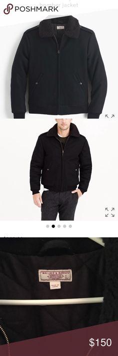 Jcrew black men's bomber jacket Jcrew Men's bomber jacket. J. Crew Jackets & Coats Bomber & Varsity
