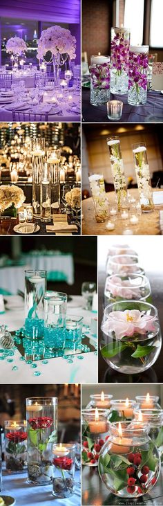 Super ideas for wedding table centerpieces floating candles centre pieces Wedding Centerpieces, Wedding Decorations, Table Decorations, Centerpiece Ideas, Water Centerpieces, Nautical Centerpiece, Centerpiece Flowers, Simple Centerpieces, Wedding Tables