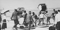 """On location with David Lean and crew filming """"Ryan's Daughter"""" (1970)."""