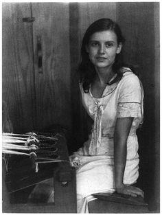 young woman seated at loom (doris ulmann, appalachian portraits, c1930)