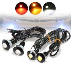Brand NEW 2x 3W LED Eagle Eye Red Yellow Light Daytime Running DRL Tail Backup Car Motor - $8.99