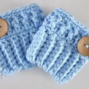 FREE Crochet Pattern from Sincerely Pam Chunky Boot Cuffs - via @Craftsy