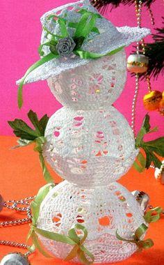 Вязанный снеговик