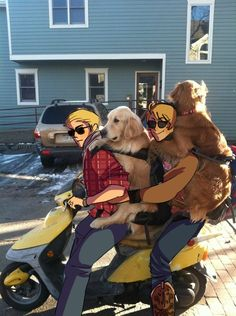Germany and America + 2 dogs + motorcycle = AWESOME