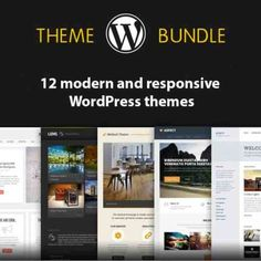 12 Modern and #Responsive #WordPress themes | #masterbundles