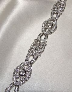Vintage Art Deco Diamond CZ Bracelet Eco by InVogueJewelry on Etsy, $220.00 SO fabulous!