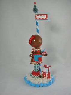 gingerbread clothespin doll