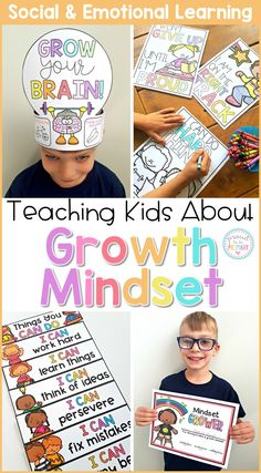 Teach children about their elastic brain, a fixed mindset and growth mindset, perseverance, learning from mistakes, failures, challenges, and the power of YET. Children will make their own 'Grow Your Brain' crown and develop a growth mindset through discussions, writing, and hands-on activities. #sel #socialemotionlearning #classroommanagement #charactereducation #socialskills #growthmindset