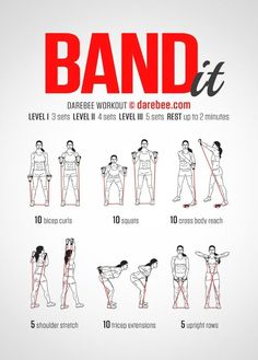 Work it out using a resistance band. Great to have handy for.- Work it out using a resistance band. Great to have handy for travelers or people… Work it out using a resistance band. Great to have handy for travelers or people… – - Fitness Workouts, Sport Fitness, Toning Workouts, Body Fitness, At Home Workouts, Fitness Tips, Fitness Motivation, Health Fitness, Easy Workouts