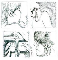 divide a sketchbook page into frames