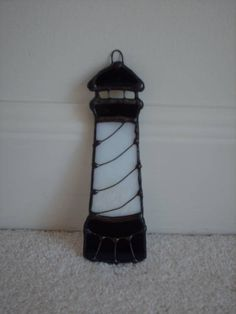 Stained Glass Lighthouse Suncatcher with wire