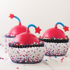 Celebrate July 4th with these fun peppermint brownie cups! Fun to make and sooooo yummy to eat! I got a little chocolate bomb mold a few months ago and I love it. I have used it for so many creativ…