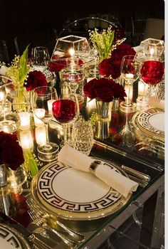 This is such a stunning tablescape. Absolutely perfect for the upcoming Christmas season. I'm in awe of such elegance. #bride #bridal #bridestyle #classy #couple #weddingorganizer #events #engaged #luxuryweddingplanning #glam #eventplanner #elegantweddings #eventorganizer #weddingseason #weddingtime #bridetobe #weddinginspiration #love #luxuryweddings #moodboard #organizer #planner #partyplanning #wedding #party #weddingdecor #weddingideas #weddingplanner #weddingdetail #eternity