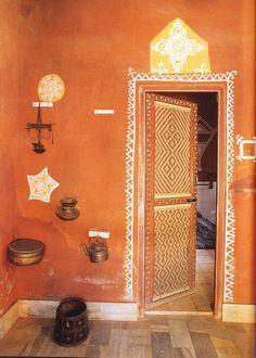 Random orange door frame.