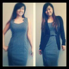 Grey pencil dress Pencil Dress, Bodycon Dress, Ootd, Grey, Dresses, Fashion, Ash, Pencil Skirt Dress, Gray
