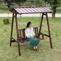 Design moderne de la balan oire en bois et en fer for Chaise bercante antique