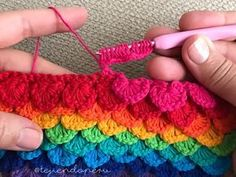 Punto lentejuelas tejido a crochet paso a paso en video tutorial ;) / Crochet sequin stitch