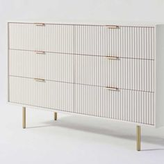 Bright and glamorous, our Quinn Lacquer Dresser stands out with textured drawer fronts and lofty metal legs. Each is made from extra strong kiln-dried wood and covered in a lacquer finish. Painted Furniture, Bedroom Furniture, Diy Furniture, Furniture Design, Bedroom Decor, Teen Dresser, 6 Drawer Dresser, West Elm Dresser, Ikea Drawers