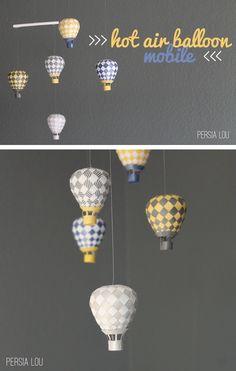 Persia Lou: Hot Air Balloon Mobile