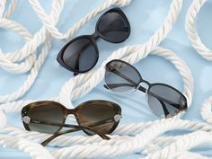 Our fleet of new Ocean Knot sunglasses, embellished with nautical details.