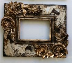 Michelle Butler Designs Jeweled Fleur de Lis Heirloom Photo Album 13 x 13 Vintage Photo Frames, Shabby Chic Frames, Design Fields, Framing Photography, Frame Crafts, Button Art, Hand Painted Signs, Picture Design, Mixed Media Art