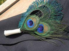 peacock & Calla lilly wedding centerpieces - Google Search