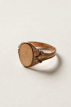 Vintage Blank Signet Ring