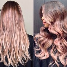 12 Reasons Rose Gold Is The Most Magical Shade To Dye Your Hair. Hair Day, New Hair, Your Hair, My Hairstyle, Pretty Hairstyles, Ombre Hair, Pink Hair, Wavy Hair, Blonde Hair