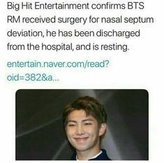 Stay healthy Namjoon Don't think about anything else now