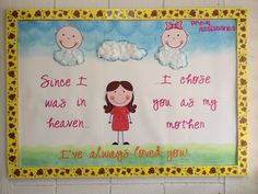 Mother's Day bulletin board