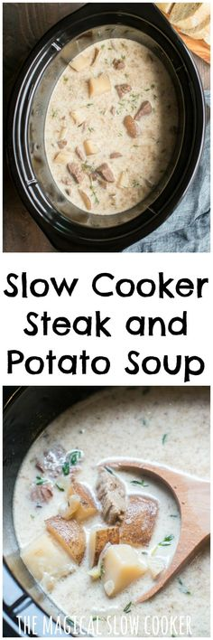 Slow Cooker Steak and Potato Soup