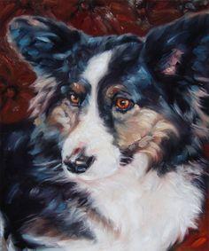 Corgi custom Pet Portrait Painting in Oils by puciPetPortraits