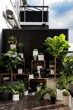 Avec quel mobilier aménager votre balcon ou votre terrasse With which furniture to arrange your balcony or your terrace? Small Balcony Decor, Garden Types, Modern Barn, Backyard Projects, Hanging Planters, Hanging Baskets, Garden Inspiration, Terrace, Outdoor Living