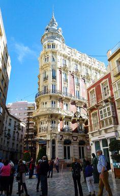 On a Cartagena walking tour, discover colorful art-nouveau buildings on Spain's Mediterranean Coast.